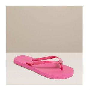 Jack Rogers Flip Flops in Pink.